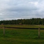 Barn, Arena and fields at Polestar